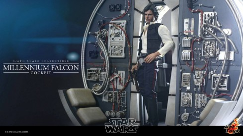 Sdcc Hot Toys Star Wars Millennium Falcon Cockpit Diorama Hot