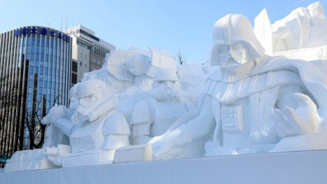 Star Wars Frozen Characters Featured Japans Snow Festival Characters