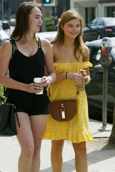 Stefanie Scott Arrives At Farmers Market In Hollywood