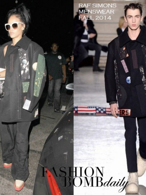 Rihanna Giorgio Baldi Stella Mccartney Sunglasses Brogues Raf Simons Fall Menswear Coat Saint Laurent Clutch Stella Mccartney