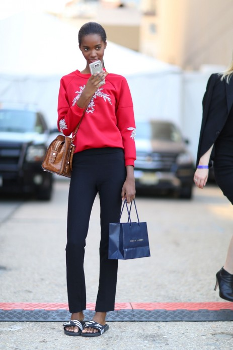 Models Off Duty Street Style Tami Williams Sexy