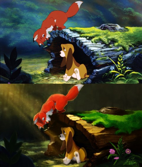 Kittenbombs Tod And Copper The Fox And The Hound Before And After Copper
