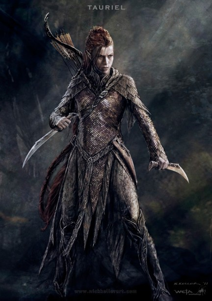 The Hobbit The Desolation Of Smaug Concept Art Tauriel Nk The Hobbit