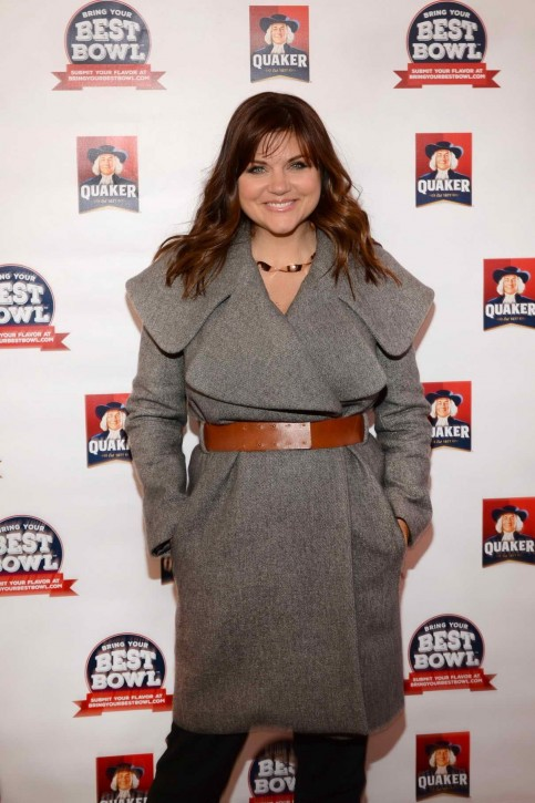 Tiffani Thiessen At Quakers Nationwide Bring Your Best Bowl Contest In Nyc Tv