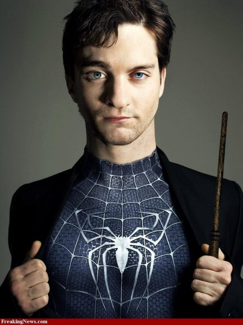 Daniel Radcliffe Tobey Maguire Face Large Movies