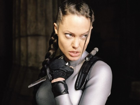 Celebrating Female Action Heroes Angelina Jolie Grrr Picture From The Second Movie In The Series Tomb Raider