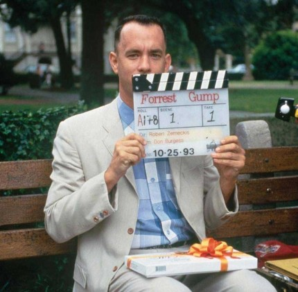 Tom Hanks On The Set Of Forrest Gump Tom Hanks