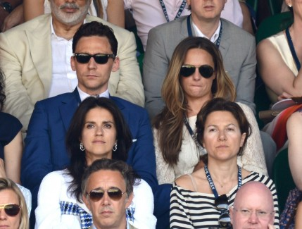 Tom Hiddleston Wimbledon Finals With Jane Arthy Pic Tom Hiddleston