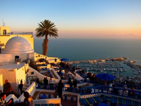 Sidi Bou Said Cafe Wallpaper