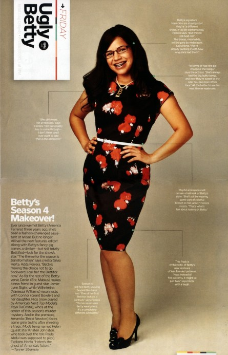 Betty New Look For Season Ugly Betty Ugly Betty