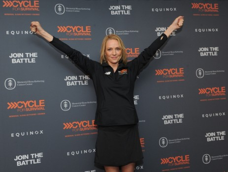 Uma Thurman Shows Her Support At Cycle For Survival Uma Thurman