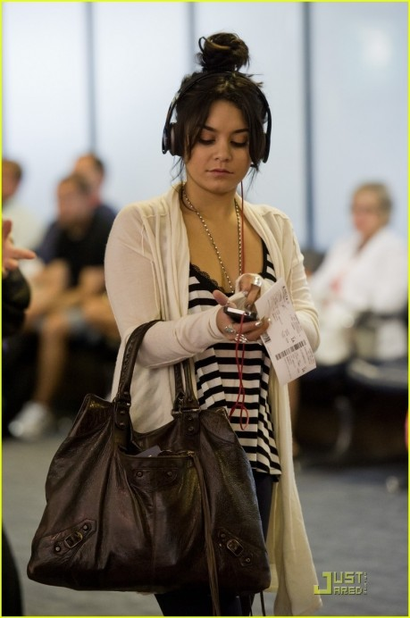 Vanessa Hudgens Catches Flight Fashion