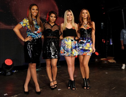 Rochelle Humes Vanessa White Mollie King Una Healy Christopher Kane Prints Bbc Live Lounge London