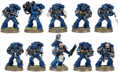 Warhammer Space Marines Tactical Squad