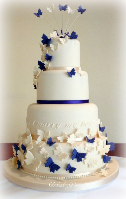Butterfly Wedding Cakes Decoration Cake