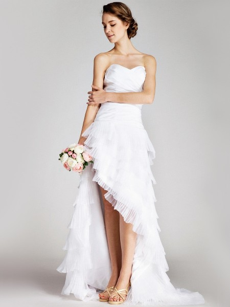Short Wedding Dress With Train Dresses
