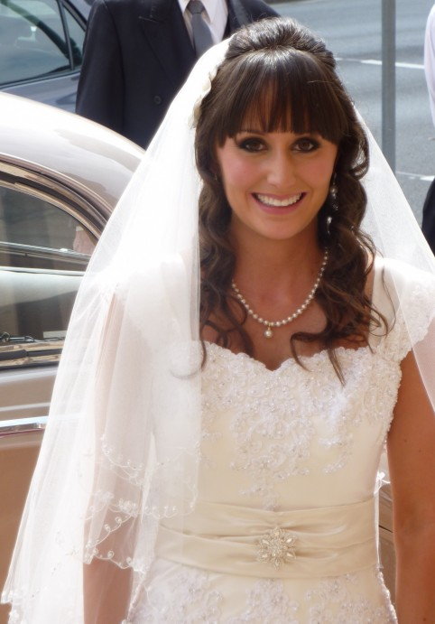 Bridal Hairstyles For Long Hair Half Up With Veil Bridesmaid Hair Styles Image With Veil