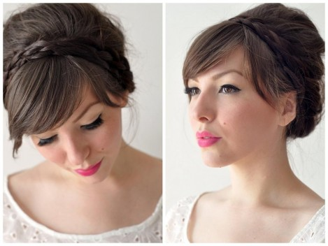 Easy Half Updo Hairstyles Half Up Half Down