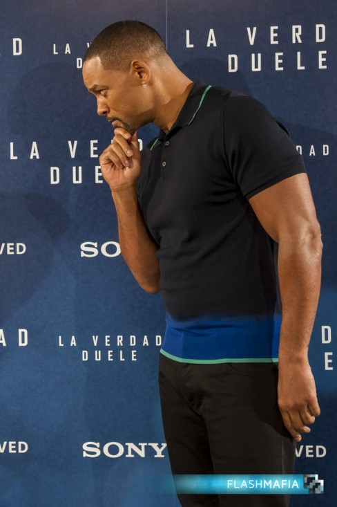 Will Smith Concussion Columbia Pictures Madrid Photocall Villamagna Hotel Pose Will Smith