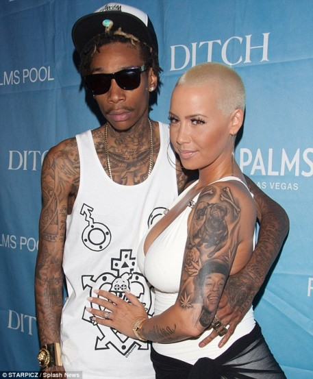 Amber Rose Wiz Khalifa Tattoo Removed Wiz Khalifa