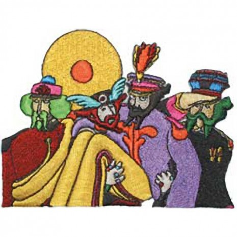 The Beatles Yellow Submarine Costume Band Characters Embroidered Patch Characters