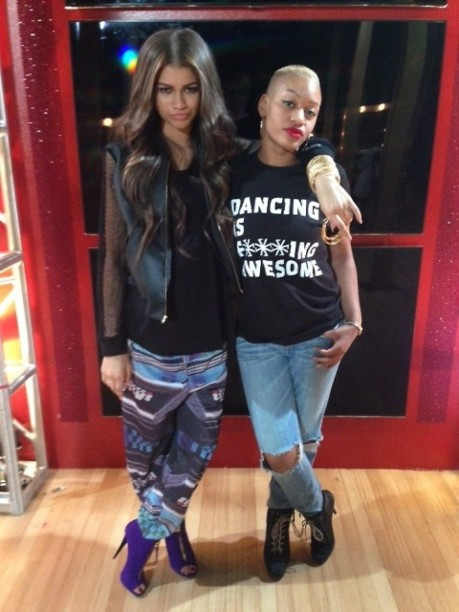Zendaya Colemans Dancing With The Stars Valentin Jacket And Franzel Amsterdam Pants Zendaya
