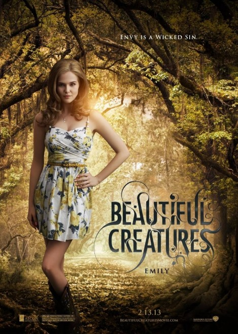 Beautiful Creatures Character Poster Zoey Deutch As Emily Asher Zoey Deutch