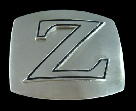 Initial Name Letter Chrome Zorro Zoro Belt Buckle Belts Buckles Boucle Nom Gif Zorro